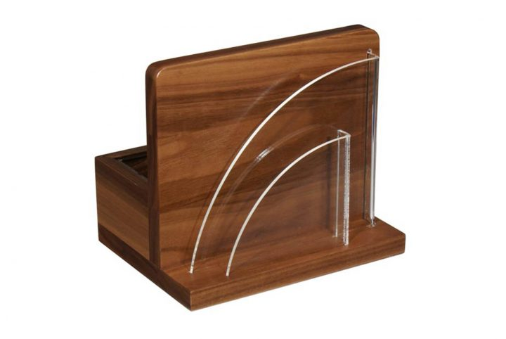 bespoke wooden bar and pub condiment holder menu stand