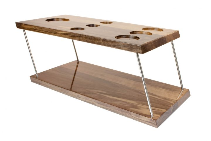 bespoke wooden display stand serving tray