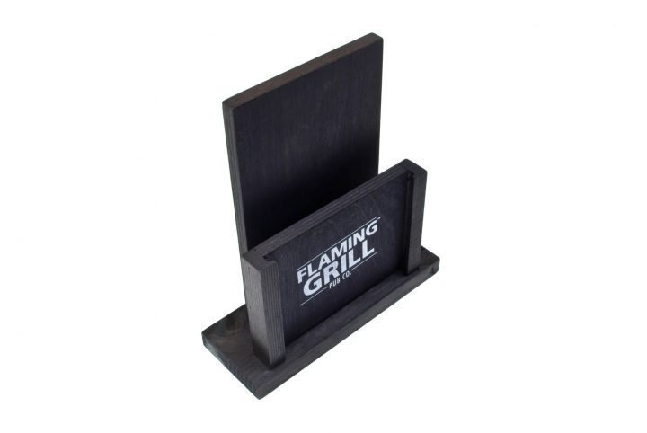bespoke menu stand wooden table top menu holder