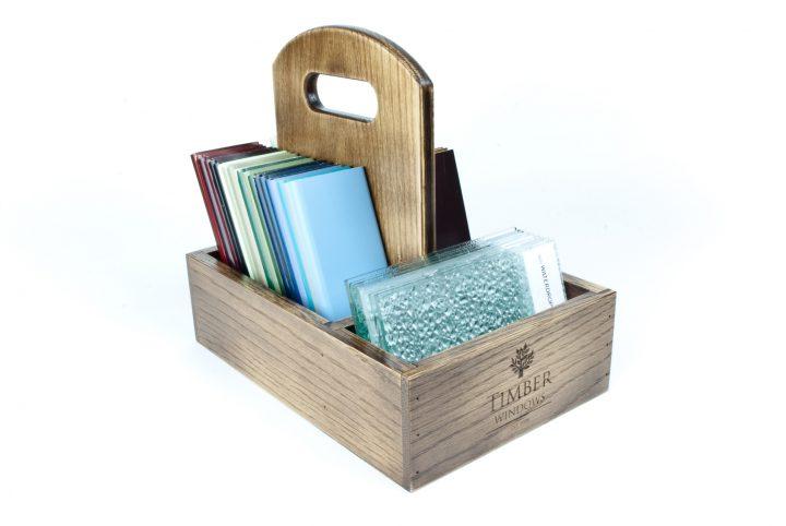 bespoke wooden product presentation tray pos holder