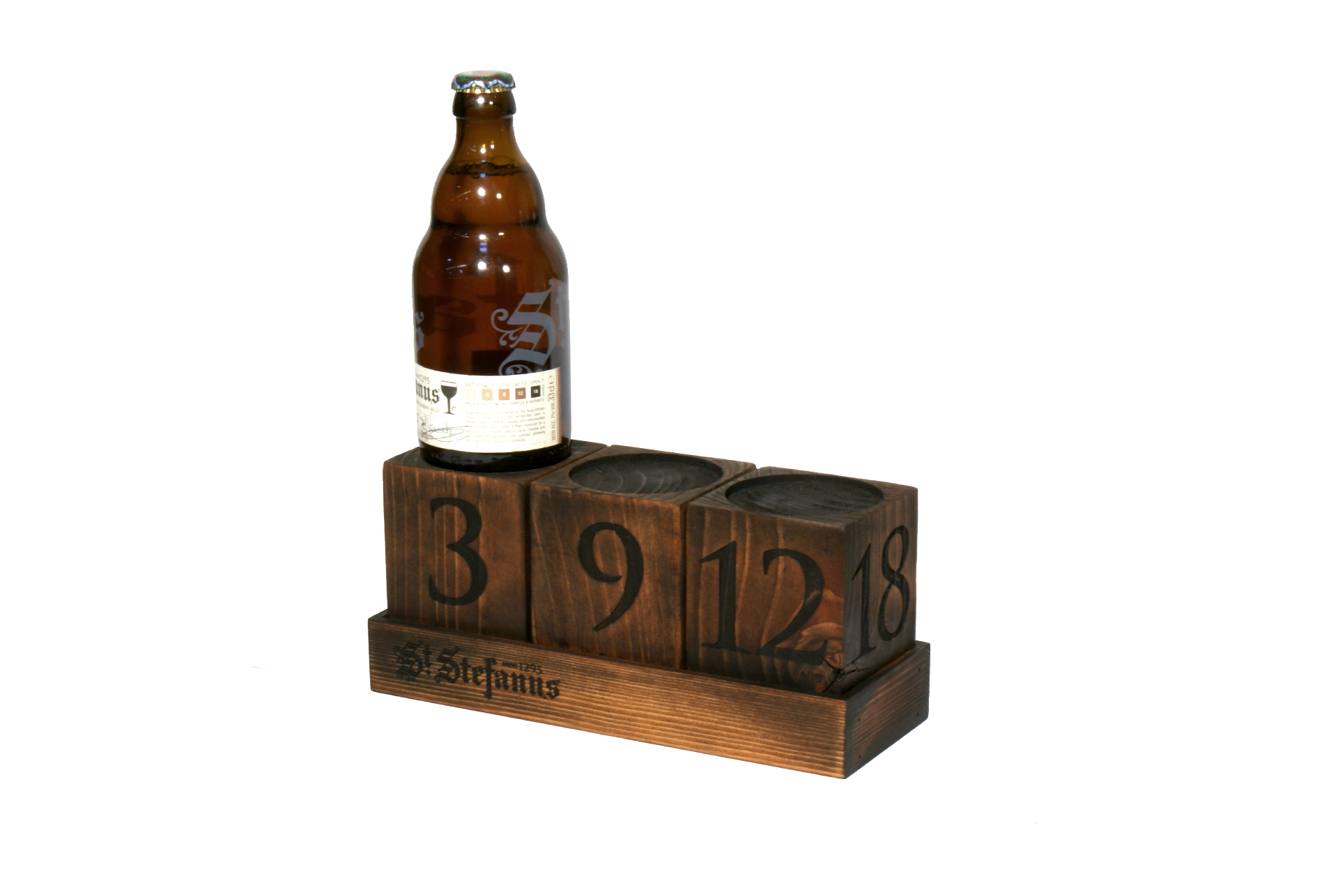 point of sale beer display bespoke wooden pub merchandiser