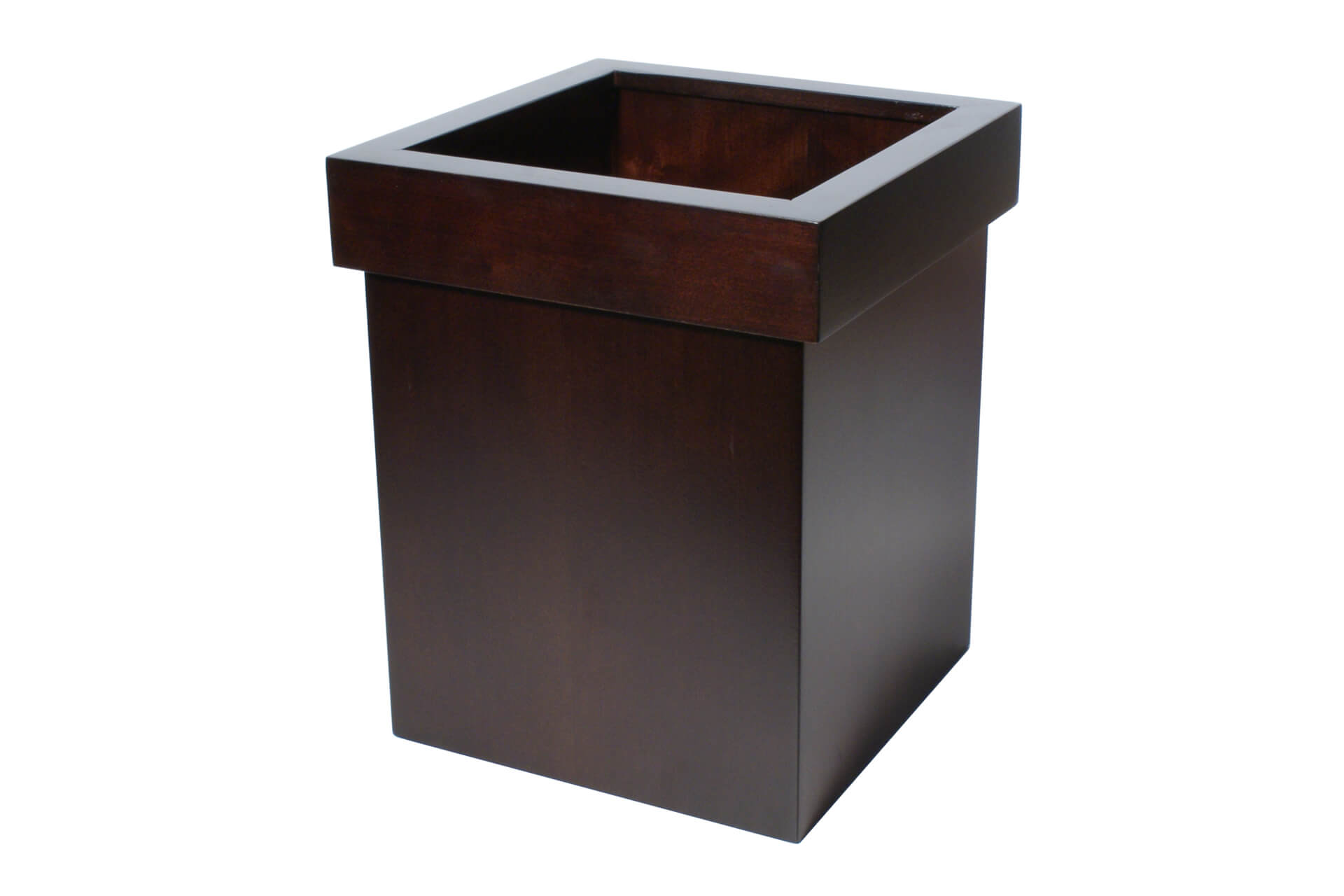 waste paper bin with optional liner in bespoke wood uk wholesale