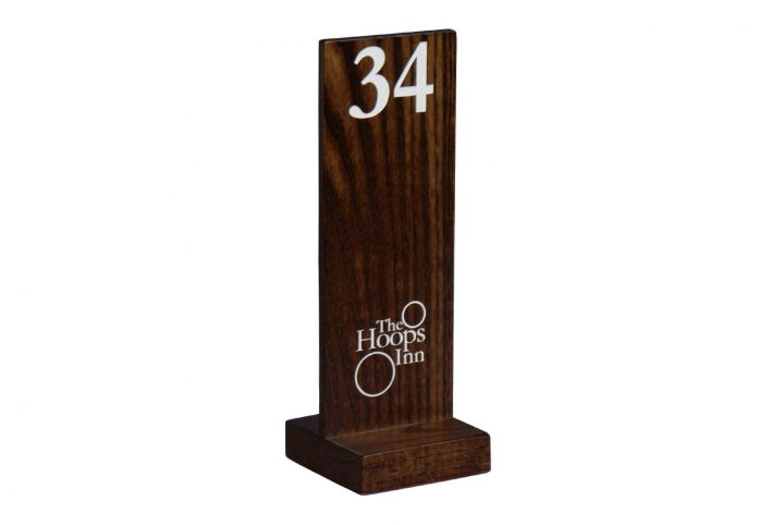 wooden custom table numbers cafes and restaurants