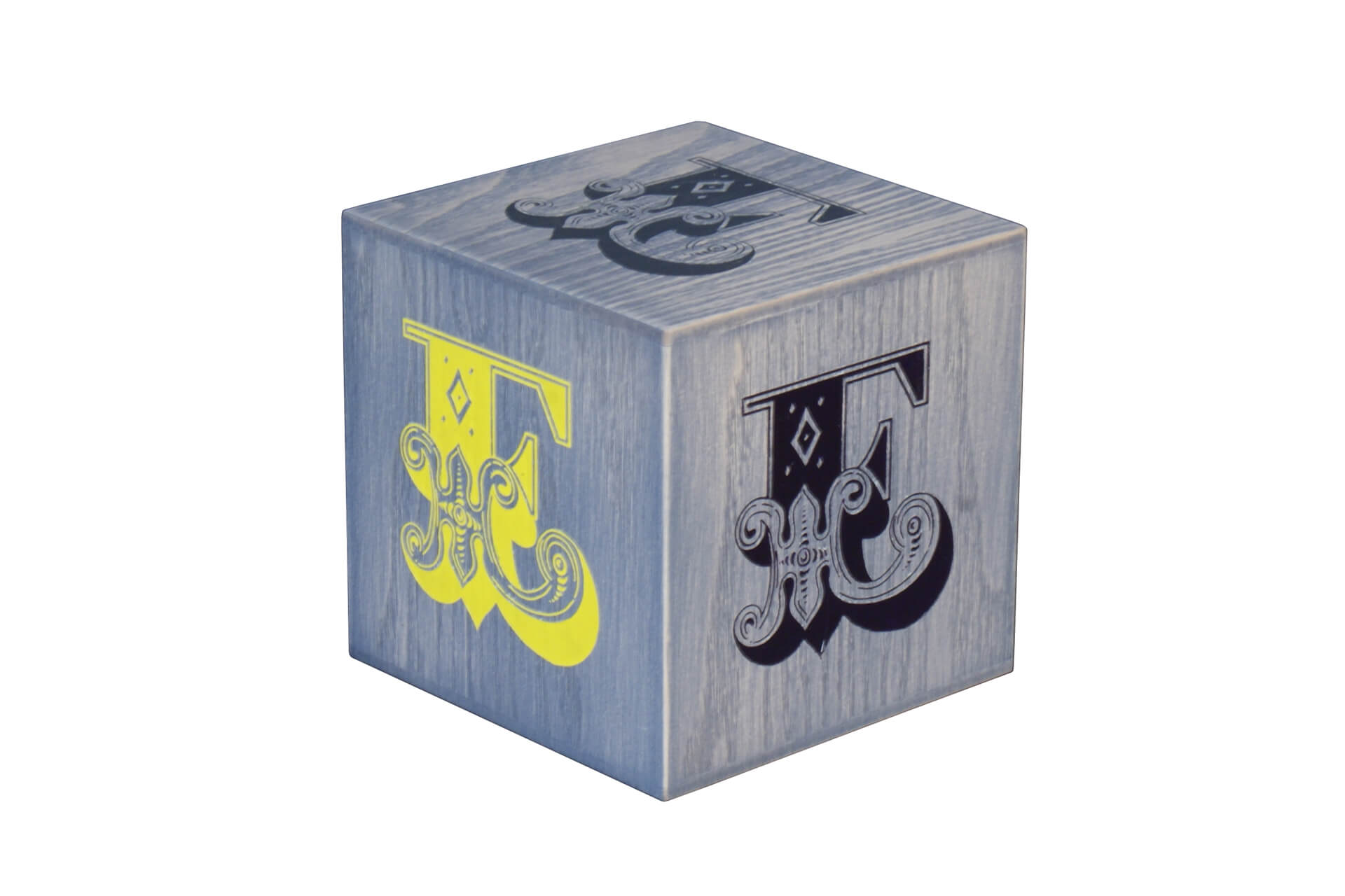 promotional wooden cube for retail display