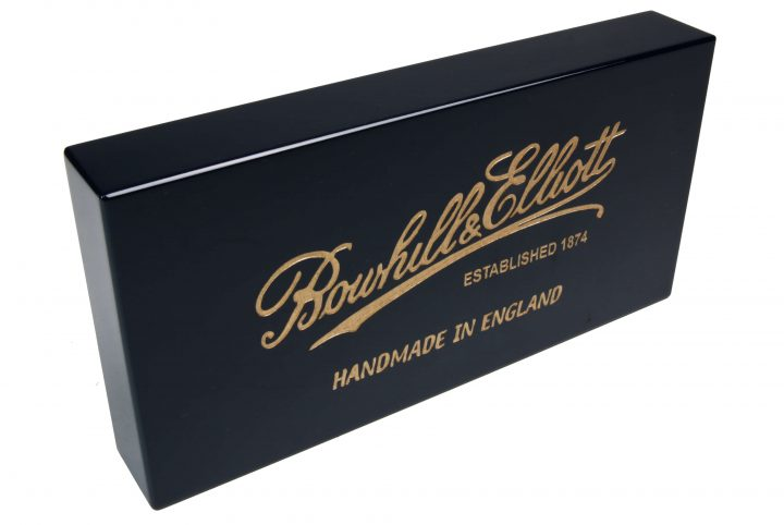 MW2586 Bowhill and elliot painted branding block laser engraved with gold infill