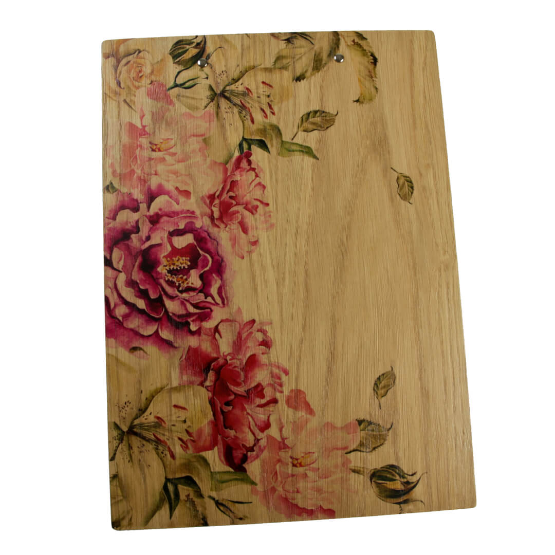 digitally printed wooden clipboards