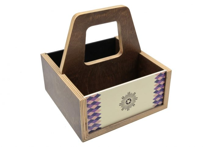 wooden carry caddy for restaurants