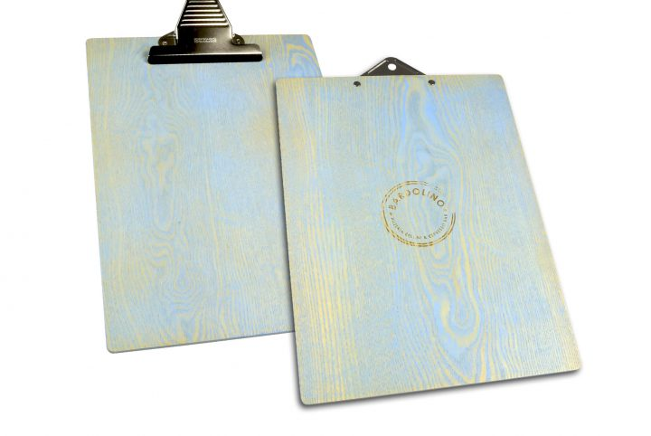 wooden clipboard for restaurant