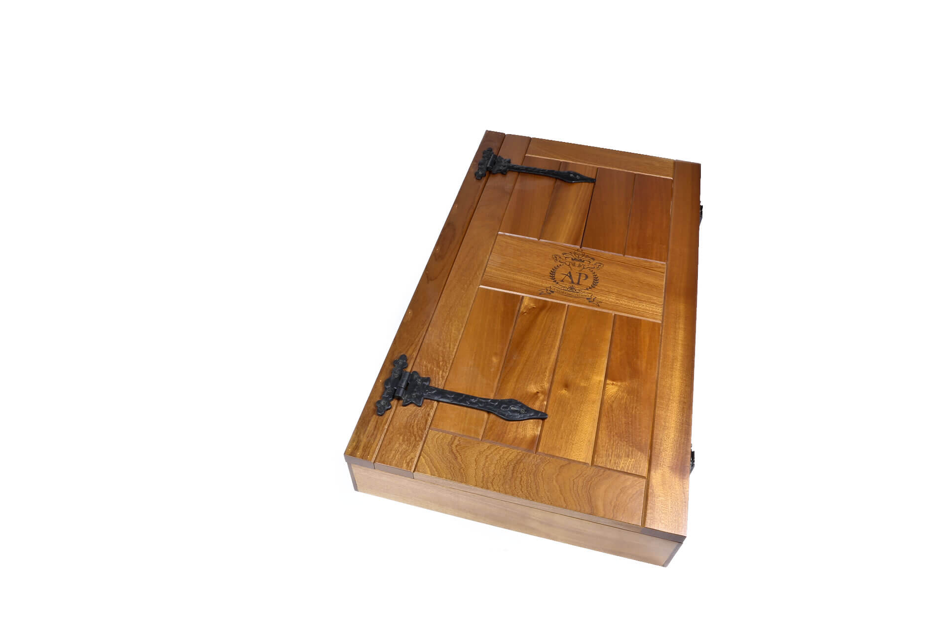 bespoke wooden display case sports promotional product closed