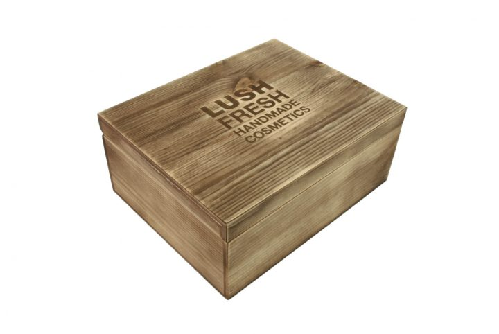 full shot bespoke wooden packaging promotional wood cosmetics box