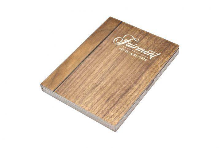 personalised wood cheque presenter for cafes