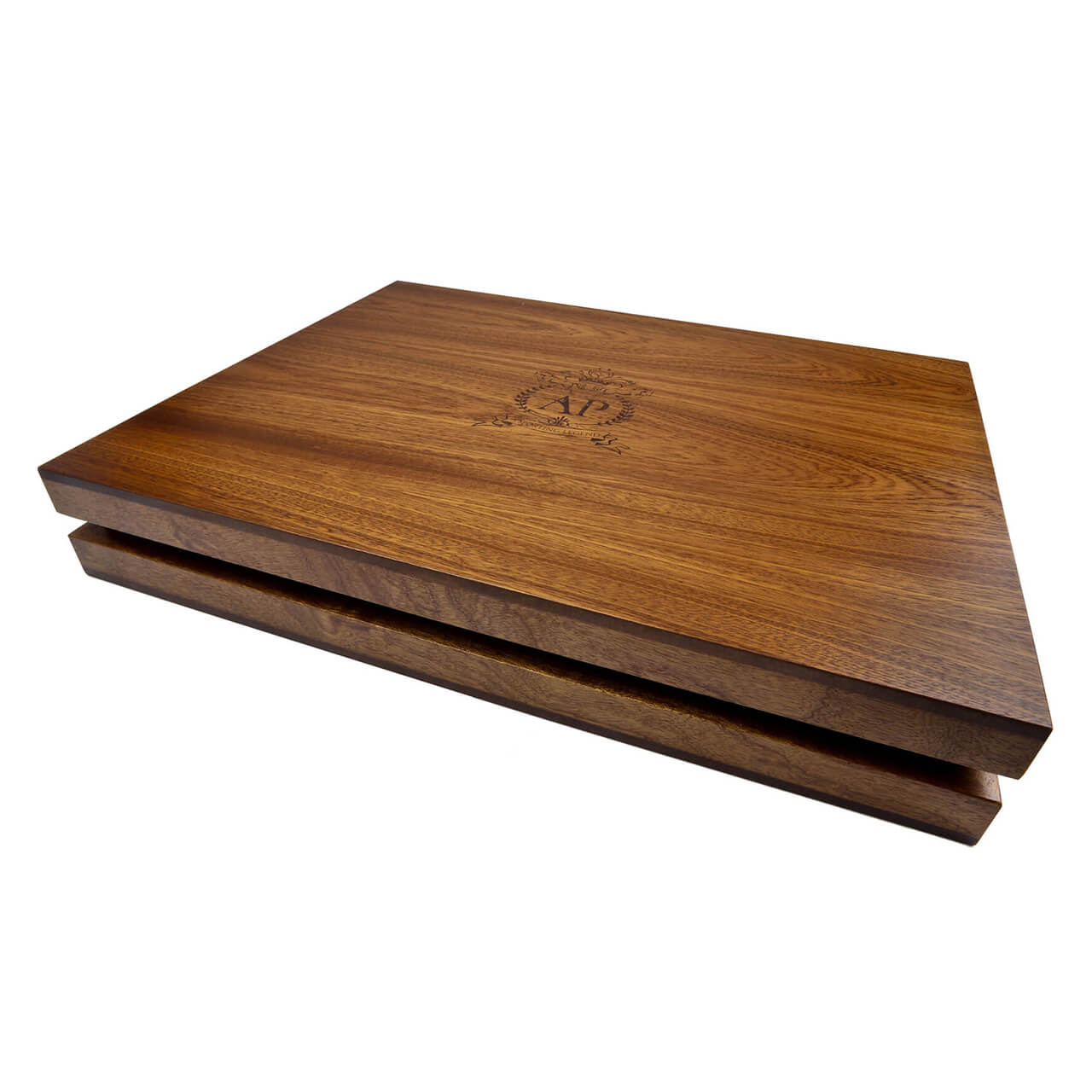 unique wooden presentation box lift off lid