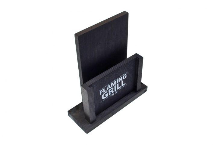 bespoke menu stand wooden table top menu holder