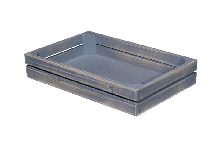 rustic aged food safe serving tray food display point of sale stand
