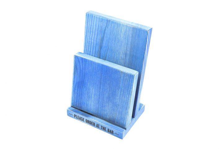 table menu stand wooden menu holder