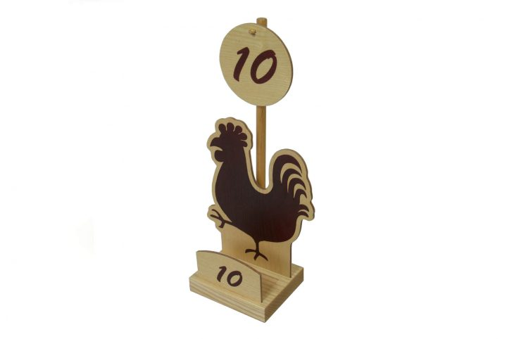 restaurant wooden table numbers